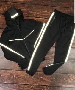 Men's Reflective Fleece Set (Black)