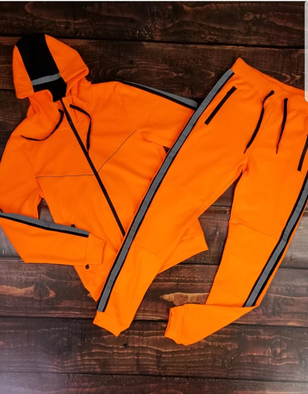 Men's Reflective Fleece Set (Orange)