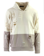 Load image into Gallery viewer, Two Toned Laser Cut Hoodie (Sand Taupe)