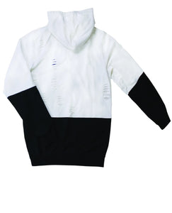Two Toned Laser Cut Hoodie (White)