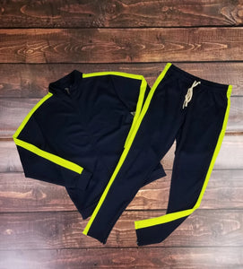 Stripe Track Set ( Black & Neon)