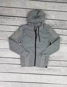 Quilted Fleece Hoodie (Grey)