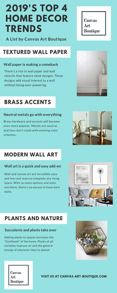 2019's Top 4 Home Decor Trends: An Infographic