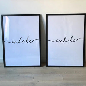 Inhale exhale wall art customer photos