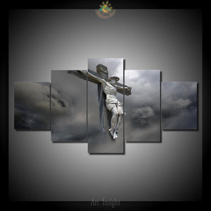 jesus christ on the cross canvas wall art