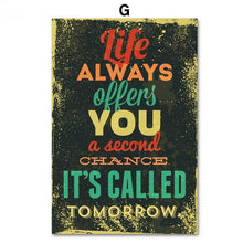 Buy Colorful Retro Quote Canvas & Wall Art Online | Canvas Art Boutique