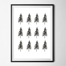 minimalist trees canvas wall art