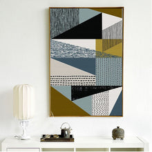 Green & Grey Abstract Geometric Wall Art Decor