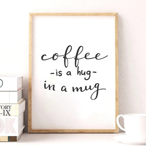 coffee wall art, coffee theme wall art, coffee quote wall art, coffee wall art for kitchen, coffee canvas wall art