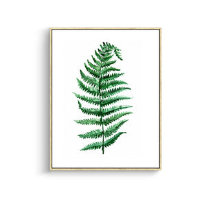 Modern Green Tropical Plant Leaves Canvas Art Print Poster , Nordic Green Plant Wall Pictures Kids Room Large Painting No Frame