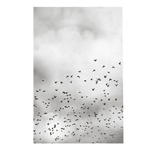 sky birds canvas wall art