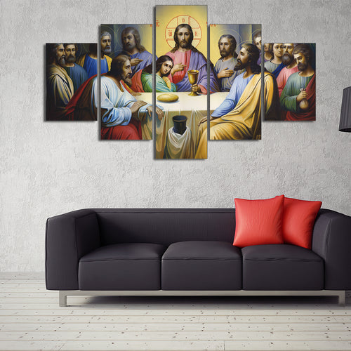 christian last supper canvas wall art