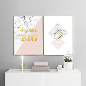 geometric living room canvas wall art