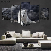 Wall Pictures for Living Room Black and White Modular Painting Pictures Wolf Canvas Painting Modern Wall Art Canvas Prints