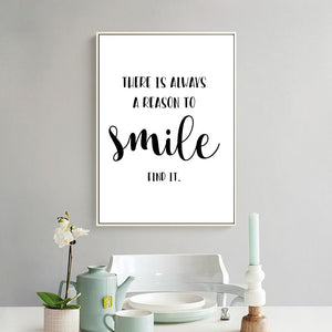 inspirational quote canvas wall art