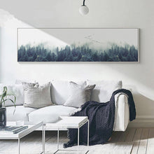 nordic forest minimalist canvas wall art