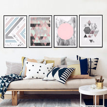 decorative abstract geometric canvas wall art