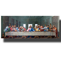 traditional christian last supper canvas wall art