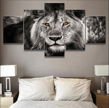black and white majestic lion canvas wall art