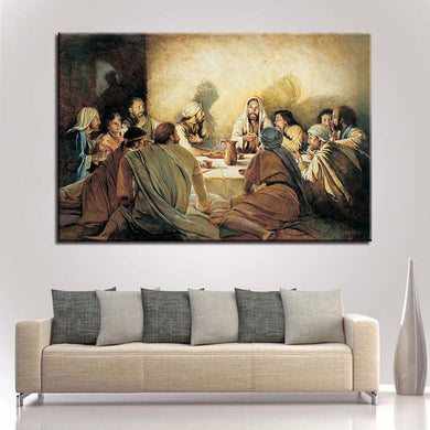 classic last supper christian canvas wall art