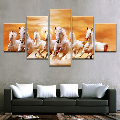 Running Horses at Sunset Canvas & Wall Art