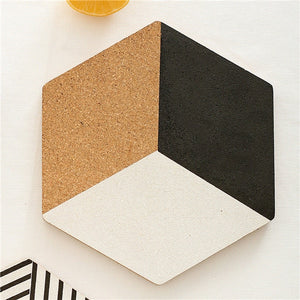 Simple Black White Wood Drink Coaster Coffee Cup Mat Tea Pad Dining Fashion Soft Wooden Placemats Decoration Accessories 1pcs