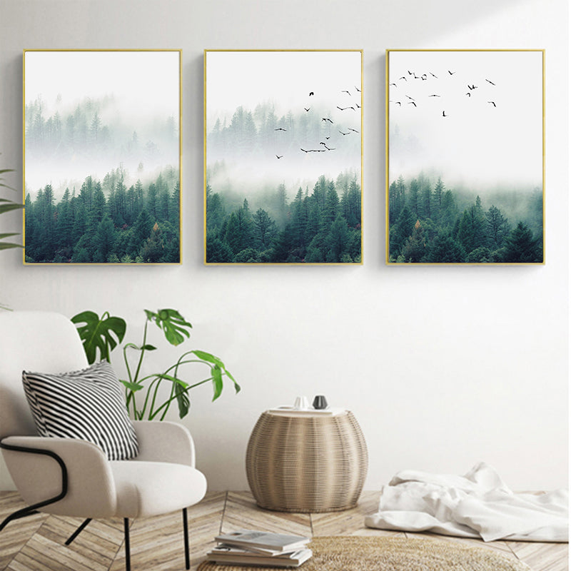 3 Piece Nordic Forest Landscape Wall Art