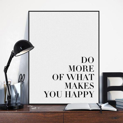 Buy What Makes You Happy Wall Art Online | Canvas Art Boutique