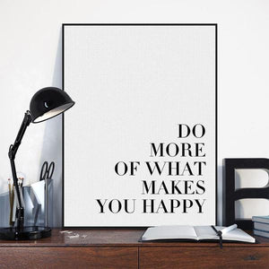 What Makes You Happy Wall Art | Canvas Art Boutique