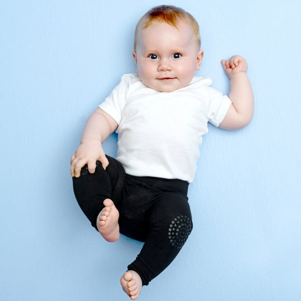 GoBabyGo kravle leggings sort