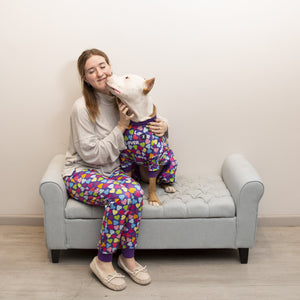 Purple 'Lover' Pajama Pants