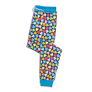Blue 'Lover' Pajama Pants