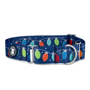 'Christmas Lights' Martingale Collar