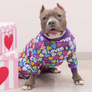 Purple 'Lover' Pit bull Pajamas