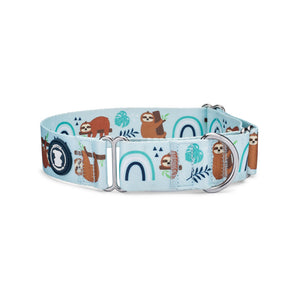 'Don't Hurry, Be Happy' Sloth Dog Collar | Pittie Clothing Co.