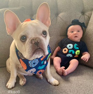Baby and Dog wearing Matching Clothes I Pittie Clothing Co.
