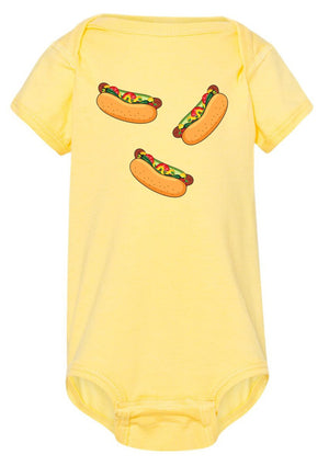 'Chicago Style Hot Dog' Baby Onesie