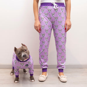 Purple 'Sugar Skull' Unisex Pajama Pants
