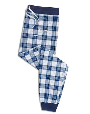 'Perfect in Plaid' Unisex Navy Pants