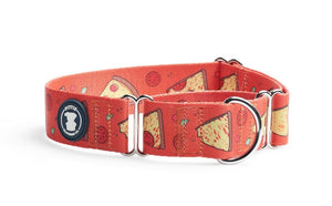 Red 'Stealin' a Pizza Your Heart' Collar