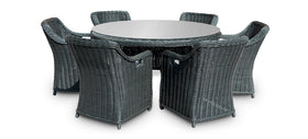 Dining Round Table Set (6 Chairs)