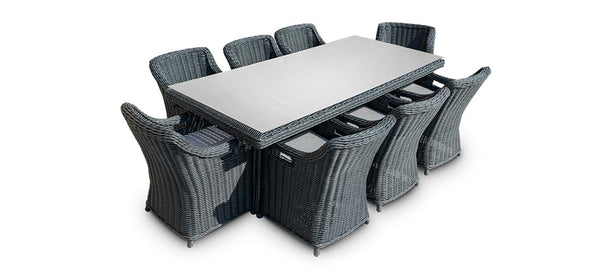 Dining Rectangle Table Set (8 Chairs)