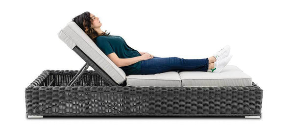 Single Lounger with adjustment