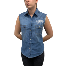 Load image into Gallery viewer, Women's Sleeveless Denim Shirt
