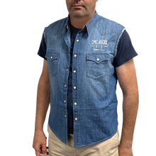 Load image into Gallery viewer, Men's Sleeveless Denim Shirt