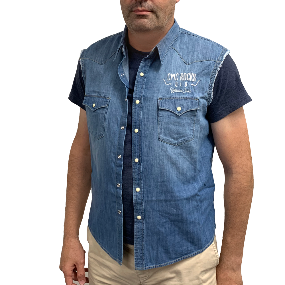Men's Sleeveless Denim Shirt