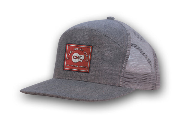 Square Baseball Cap - Grey Marle