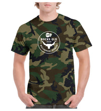 Load image into Gallery viewer, Men's Bull Horn Circle T- Shirt - Camo