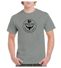 Load image into Gallery viewer, Men's Bull Horn Circle T- Shirt - Grey Marle