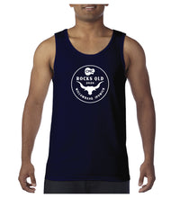 Load image into Gallery viewer, Men's Bull Circle Singlet - Navy